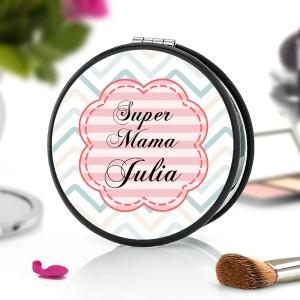lusterko z napisem super mama + imię