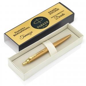 złoty długopis parker z grawerem imienia na bierzmowanie
