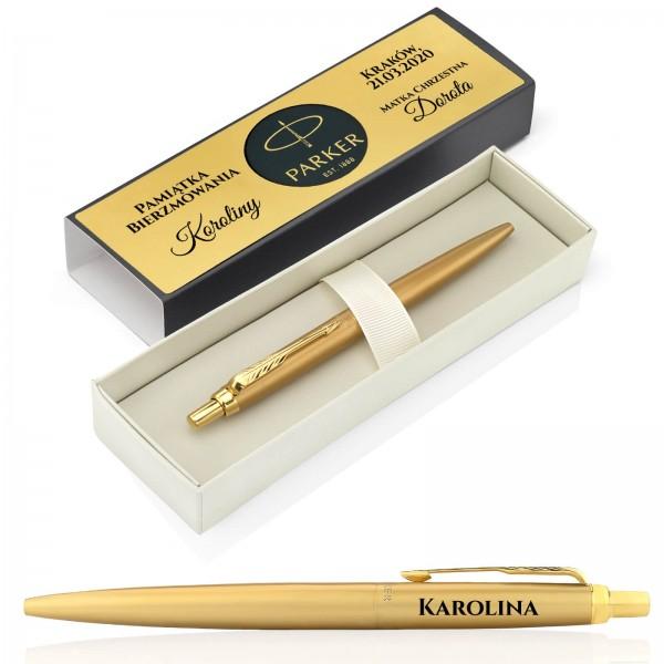 długopis parker z grawerem na bierzmowanie