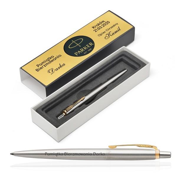 długopis parker z grawerem na pamiątkę bierzmowania