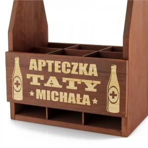 drewniana skrzynka na piwo dla taty z grawerem