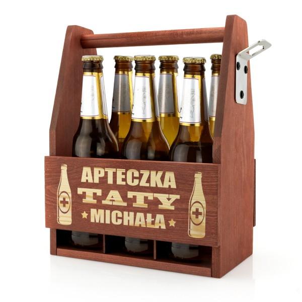 skrzynka na piwo drewniana z grawerem imienia