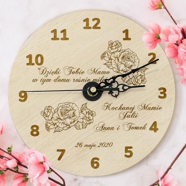 zegar z grawerem na prezent dla mamy