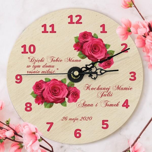 zegar z nadrukiem na prezent dla mamy