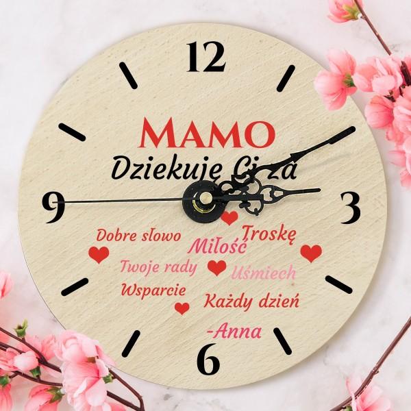 Zegar z kolorowym nadrukiem na prezent dla mamy