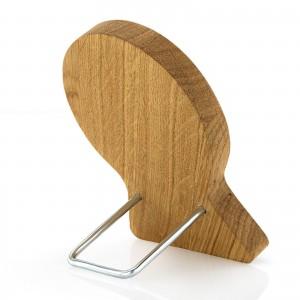 obrazek z drewna dębowego z grawerem na chrzest - z podpórka