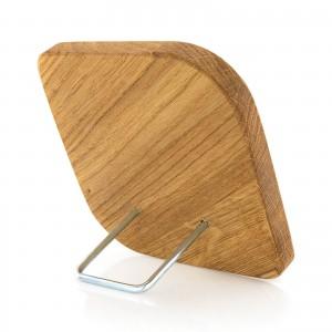 drewniany obrazek dąb na prezent na chrzest - z podpórką