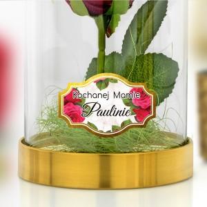 Wieczna róża pod kloszem czerwona na prezent dla mamy