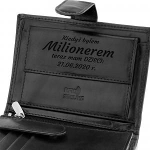 grawerowany portfel skórzany na prezent dla taty