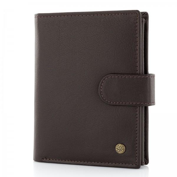 skórzany portfel meski brązowy