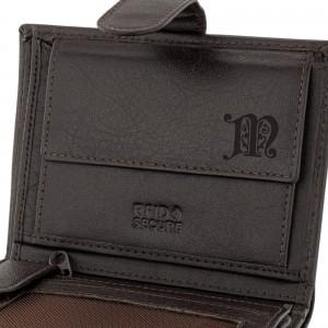 portfel męski skórzany z grawerem monogramu na prezent dla mężczyzny
