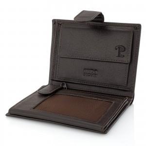 portfel męski z grawerem monogramu na prezent dla mężczyzny