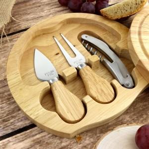 zestaw noży do sera w desce