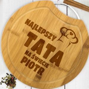 deska drewniana kuchenna z grawerem dla taty