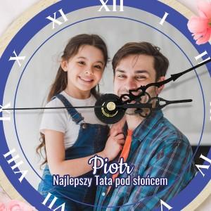 zegar ze zdjęciem i podpisem dla taty