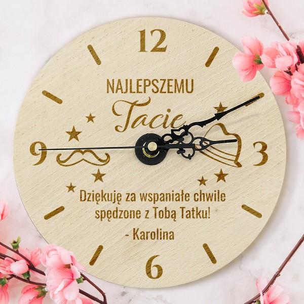 Grawerowany zegar na prezent dla taty