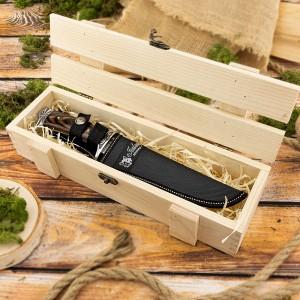 nóż myśliwski na prezent w skrzynce drewnianej