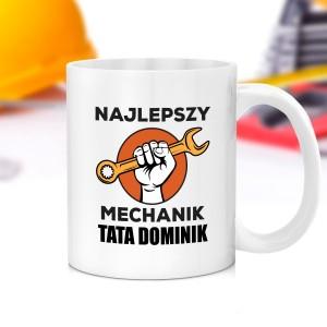 kubek z napisem najlepszy mechanik na prezent dla taty