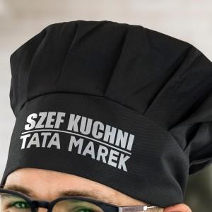 czapka kucharska z regulacją dla taty z nadrukiem imienia