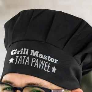 czapka czarna kucharza z nadrukiem dla taty na prezent