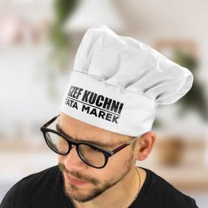 czapka kucharska z imieniem dla taty