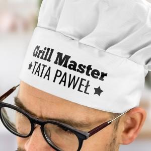 czapka kucharska dla taty biała
