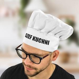 czapka kucharska z nadrukiem