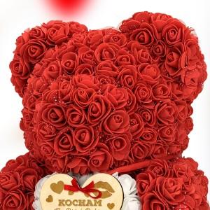 miś z róż pomysłowy prezent