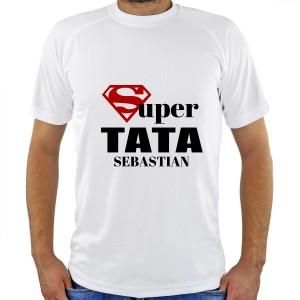 koszulka z napisem super tata + imię