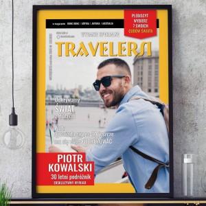 Okładka z gazety z przesłanym zdjęciem na prezent dla podróżnika