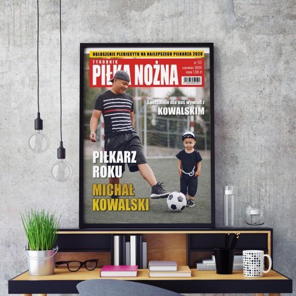okładka z magazynu ze zdjęciem najlepszy piłkarz