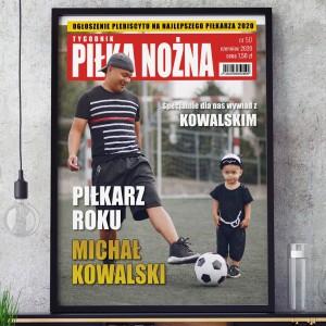 okładka z magazynu ze zdjęciem i napisem najlepszy piłkarz