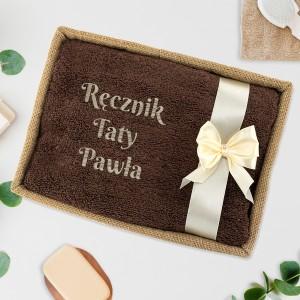 ręcznik z haftem na prezent dla taty