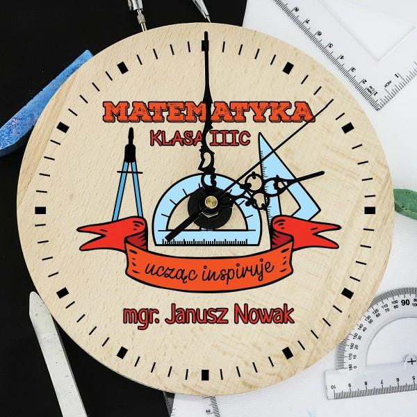 zegar dla matematyka  z nadrukiem