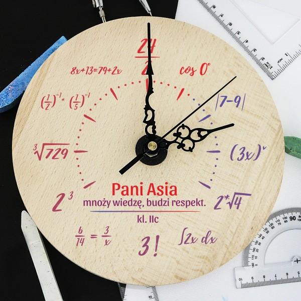 zegar matematyka dla nauczycielki
