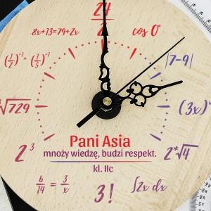 zegar matematyka dla nauczycielki na prezent