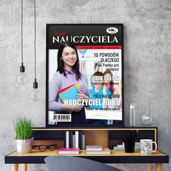 okładka magazynu na prezent dla nauczycielki