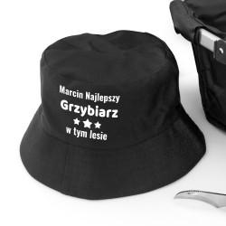 kapelusz z imieniem z napisem najlepszy grzybiarz