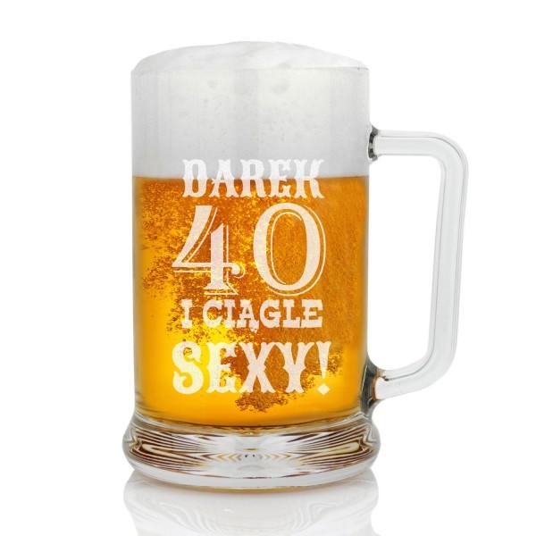 Kufel do piwa z grawerem na 40 urodziny dla niego