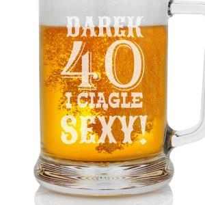 Spersonalizowany kufel do piwa na 40 urodziny
