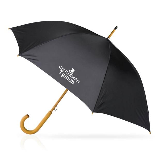 elegancki czarny parasol z nadrukiem imienia dla mężczyzny