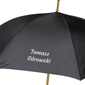 parasol z personalizowanym nadrukiem dla niego