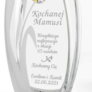 elegancki wazon na 65 urodziny na prezent dla mamy