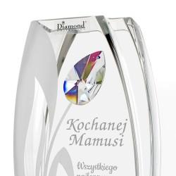 elegancki wazon z kamieniem Svarowski na 65 urodziny dla niej