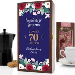 skrzynka z nadrukiem personalizacji na 70 urodziny