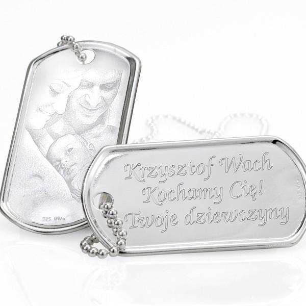 srebrne nieśmiertelniki na prezent dla niego