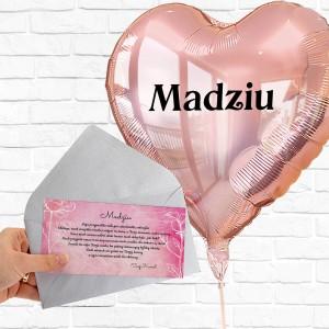 balon serce i liścik na prezent dla niej na 40 urodziny