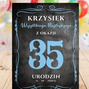 spersonalizowana kartka z życzeniami na 35 urodziny dla niego