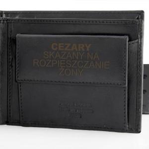 skórzany portfel z grawerem dla niego na prezent