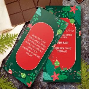 czekolada personalizowana z nadrukiem dedykacji na prezent